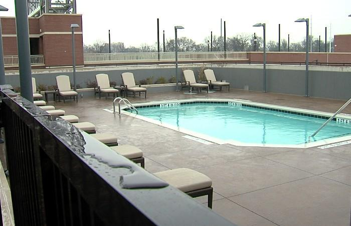 Pool deck at the new Westin Hotel in downtown Birmingham, Alabama.