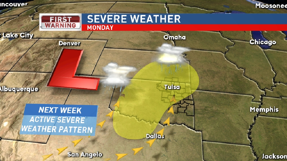 Record setting cool weather, severe weather next week