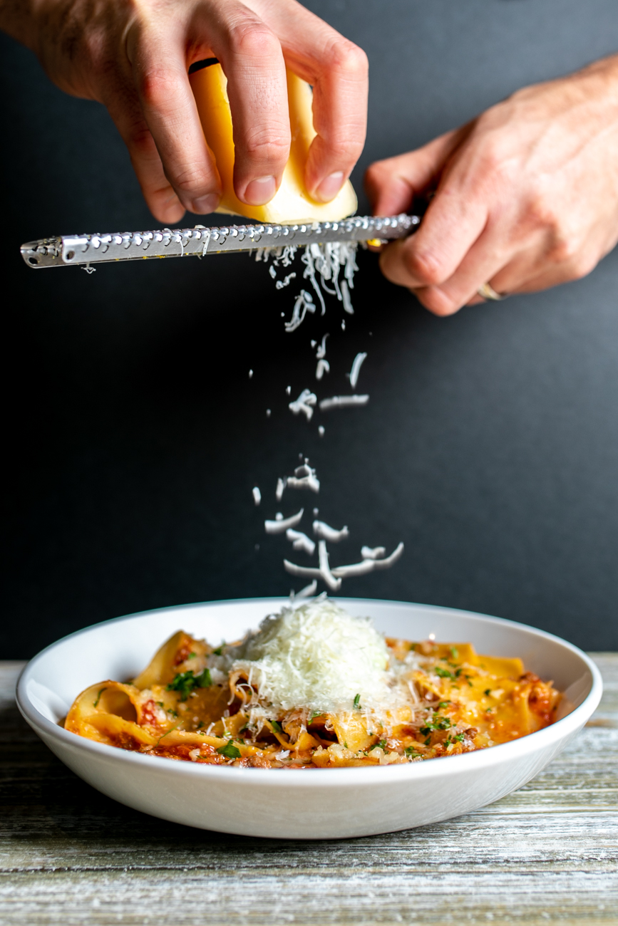 Pappardelle: Bolognese served and ricotta gremolata / Image: Amy Elisabeth Spasoff // Published: 8.20.18