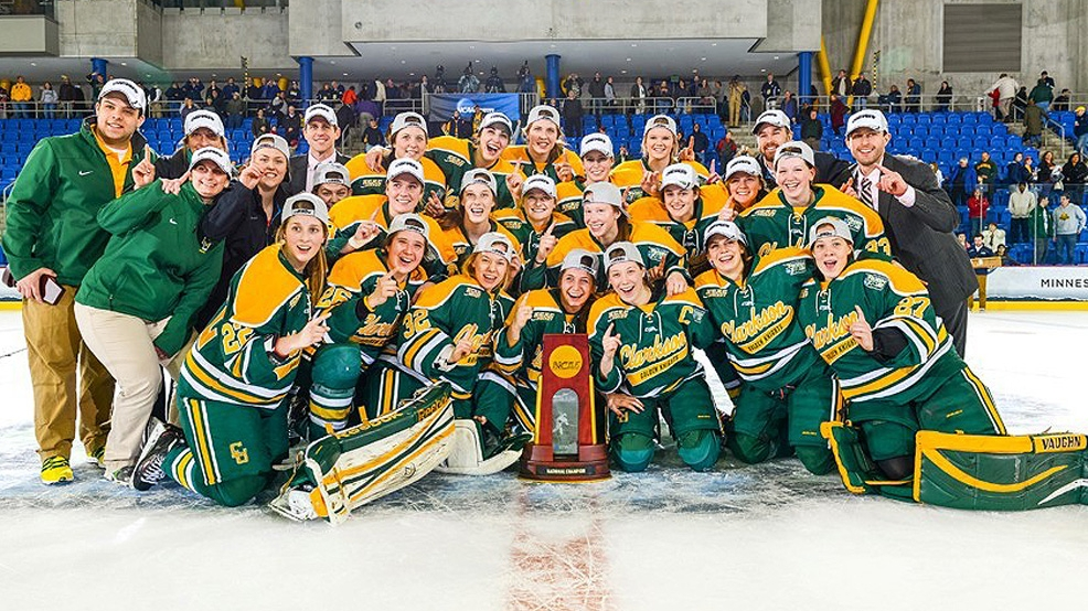 Clarkson's 2014 NCAA women's hockey champions. (Courtesy Clarkson Athletics)