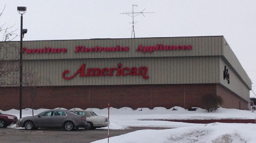 The American electronics and furniture store in Grand Chute as seen on Monday, Feb. 17, 2014. (WLUK/Chad Doran)