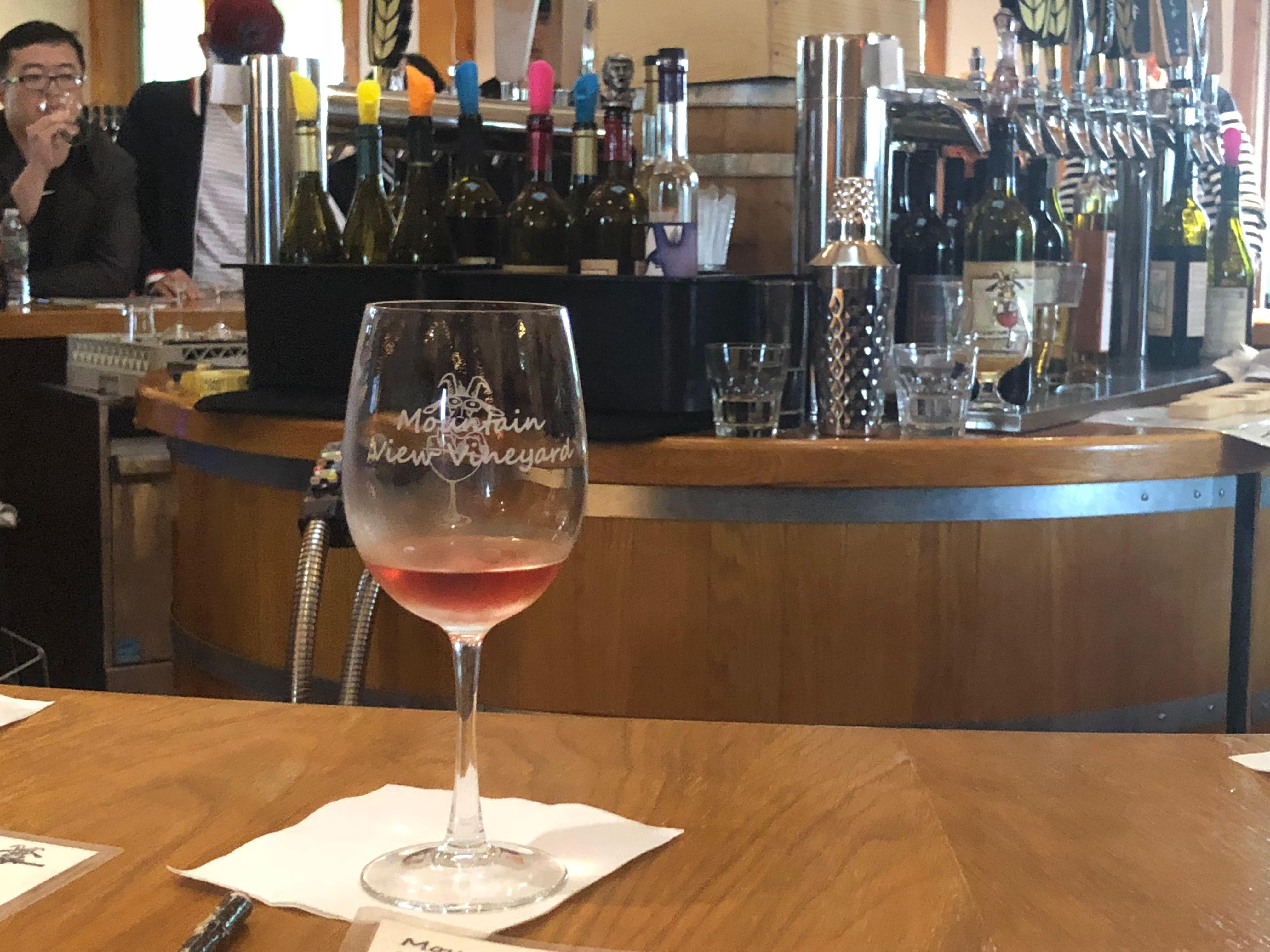 The Mountain View Vineyard on the Pocono Wine Trail will even let you bring your wine tasting glass home with you.{ }{ }(Image: Julie Gallagher)