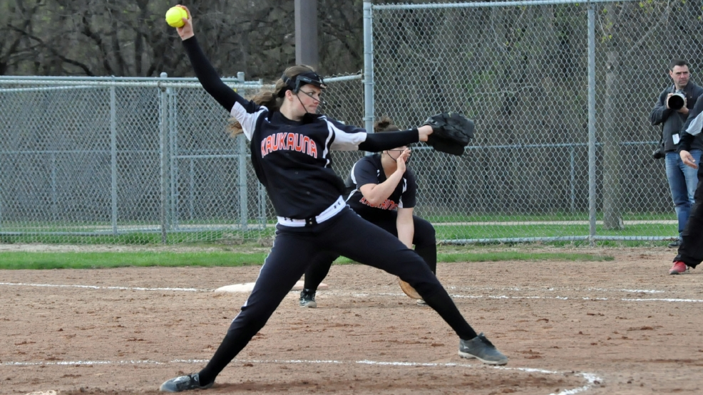 Kaukauna's Haley Hestekin has committed to Wisconsin to play softball. (Doug Ritchay/WLUK)