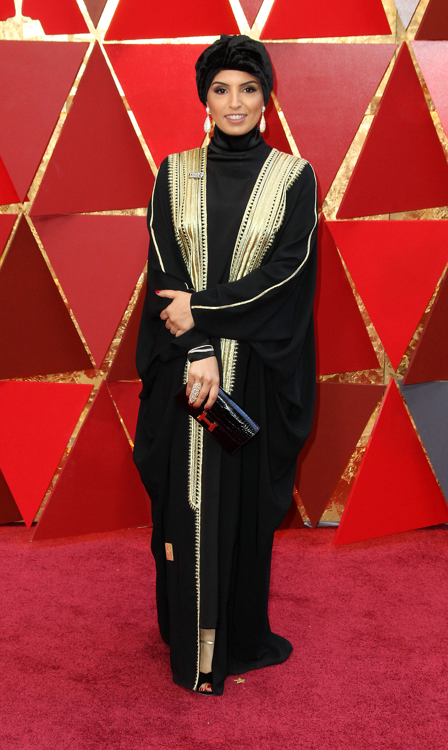 Unfortunately I could find very little information about this beauty, who is the{&amp;nbsp;}Doha Film Institute CEO, online, but I couldn't get over how effortlessly glam her Oscars look was, from the on-point makeup to the perfect styling. (Image: Adriana M. Barraza/WENN.com)<p></p>
