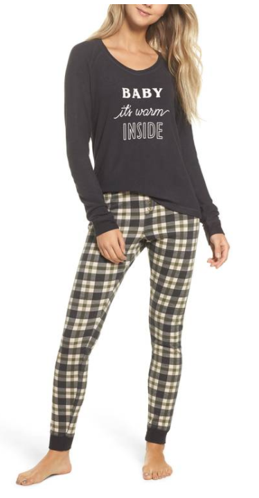 Snow Day Graphic Pajamas from Make + Model, $49 (Image courtesy of Nordstrom).<p></p>