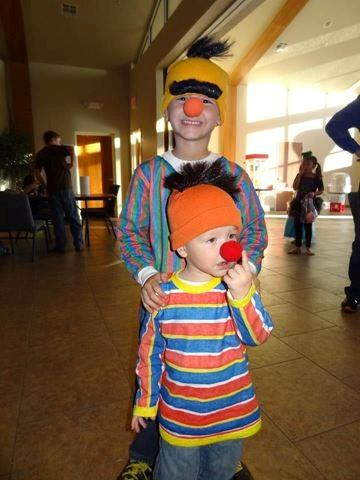FOX 25 Executive Producer James Helm's kids are dressed as Bert and Ernie.