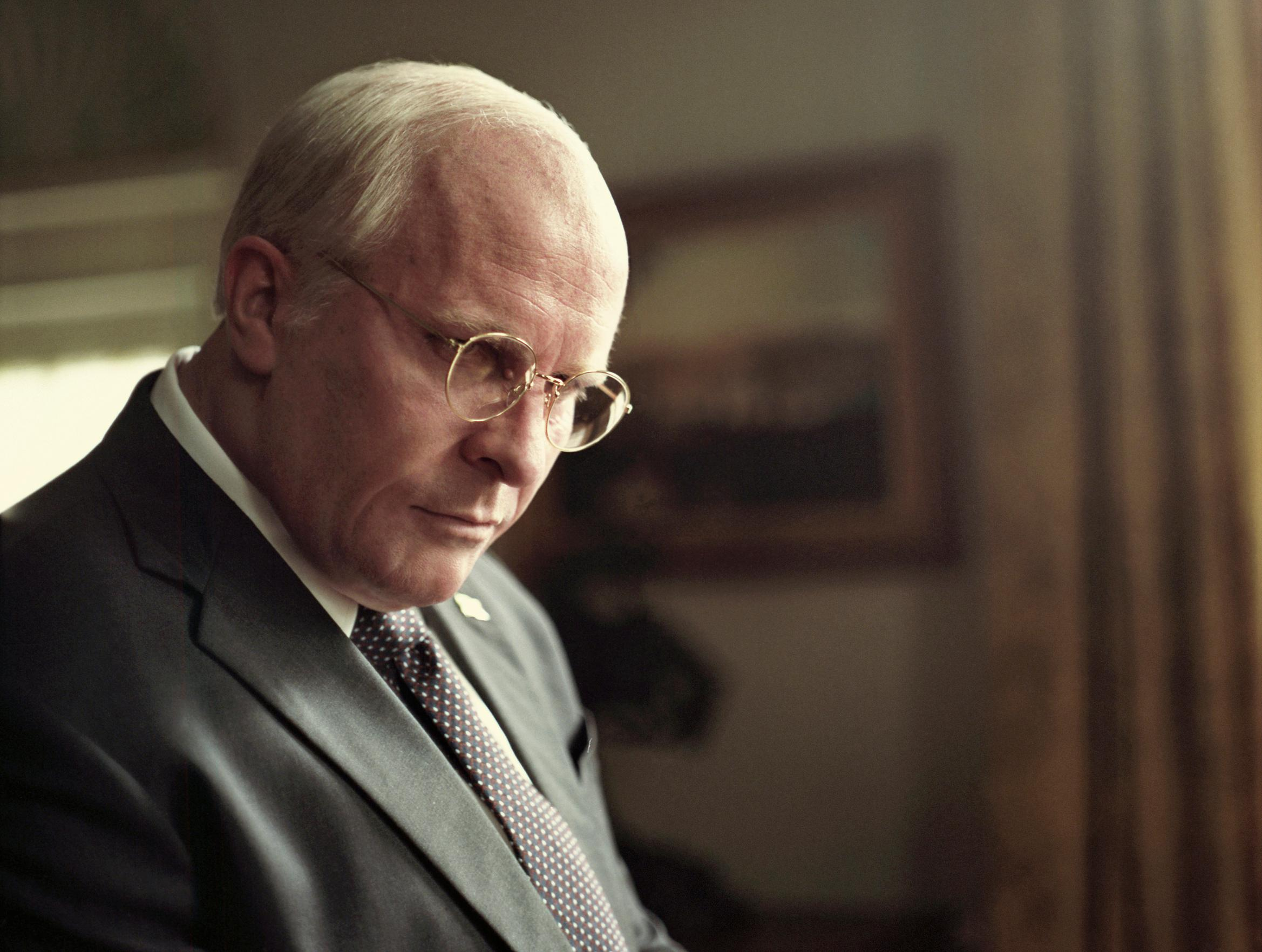 "This image released by Annapurna Pictures, Christian Bale portrays Dick Cheney in a scene from ""Vice."" On Tuesday, Jan. 22, 2019, Bale was nominated for an Oscar for best actor for his role in the film. The 91st Academy Awards will be held on Feb. 24. (Greig Fraser/Annapurna Pictures via AP)"
