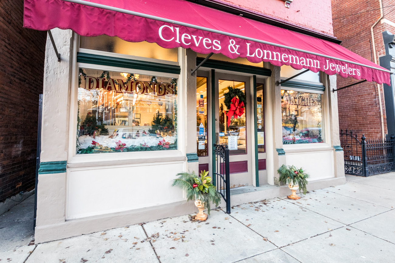 PARTICIPATING BUSINESS: Cleves & Lonnemann Jewelers / ADDRESS: 319 Fairfield Avenue (41073) / This family-owned jewelry shop has been in business for over 85 years and carries tons of designer and estate jewelry and watches as well as in-shop jewelry repair. / Image: Catherine Viox // Published: 12.9.19