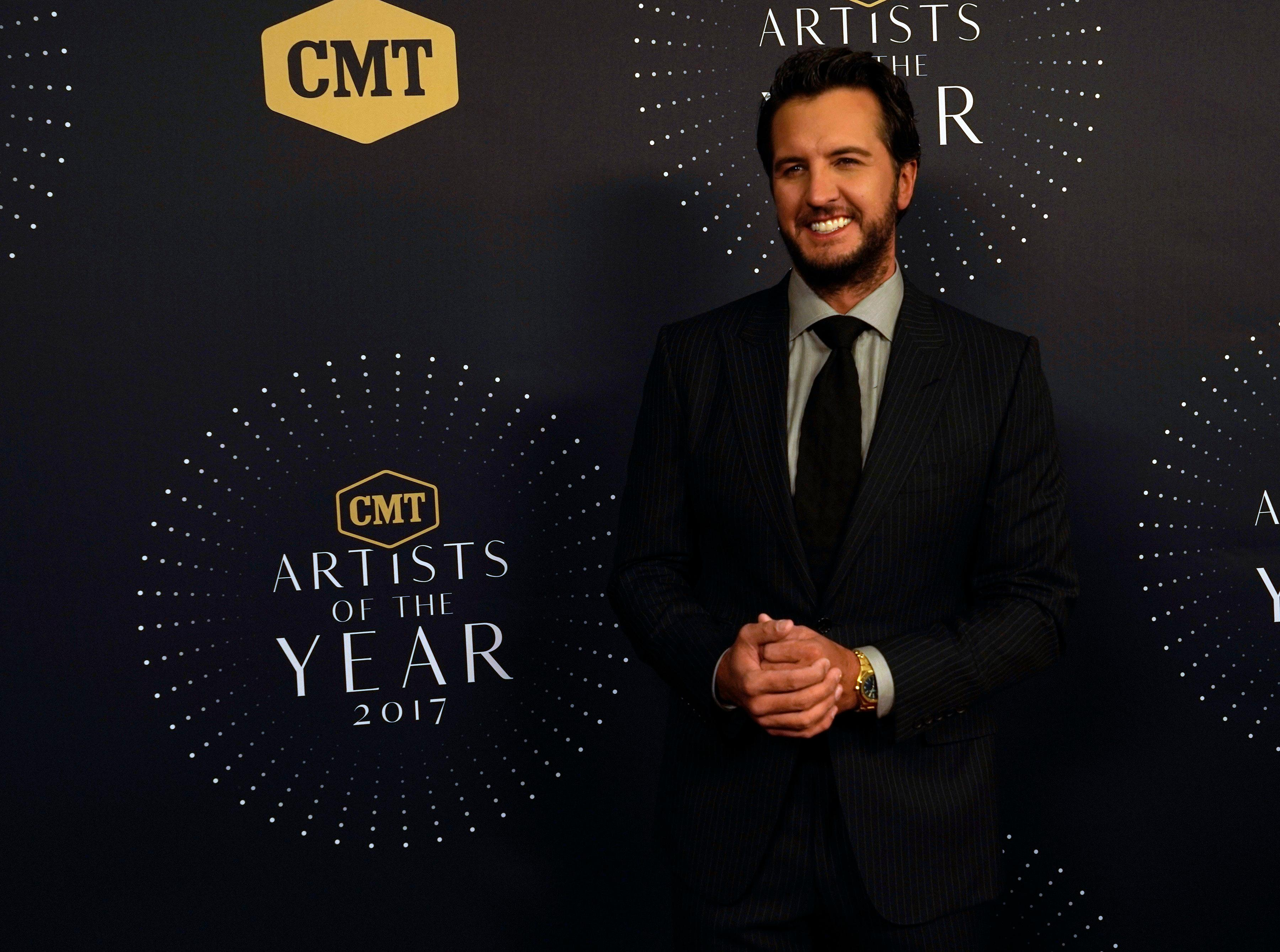 Luke Bryan seen at 2017 CMT Artists of the Year at Schermerhorn Symphony Center on Wednesday, Oct. 18, 2017, in Nashville, Tenn. (Photo by Sanford Myers/Invision/AP)
