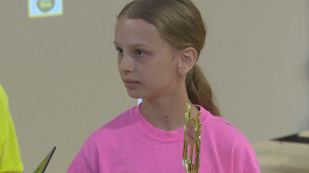 Emily Anna Cooper is a semifinalist in a national handwriting contest, Wednesday, June 11, 2014. (WLUK)