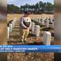 Midlands boy sings at grandfathers grave site