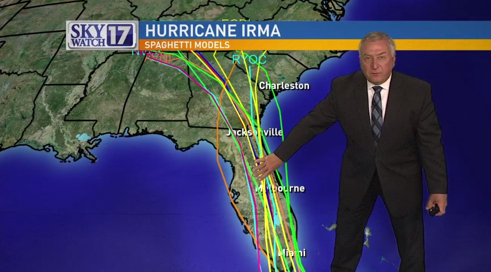 Fox 17 News This Morning Meteorologist Craig Edwards tracks the latest paths of Hurricane Irma. (Fox 17 News)