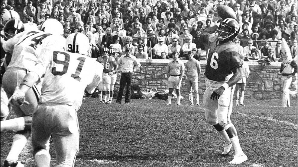 Chuck Ealey, one of the first African-Americans to play quarterback in major college football, led Toledo to a 35-0 record from 1969-71. (Courtesy of Toledo Athletics)