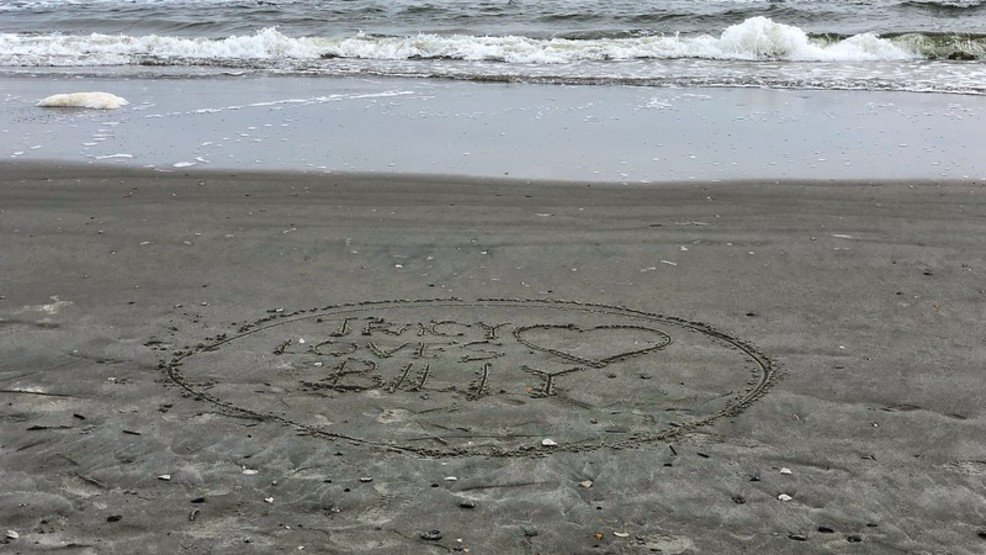 facebook request to write message in sand on folly beach gets