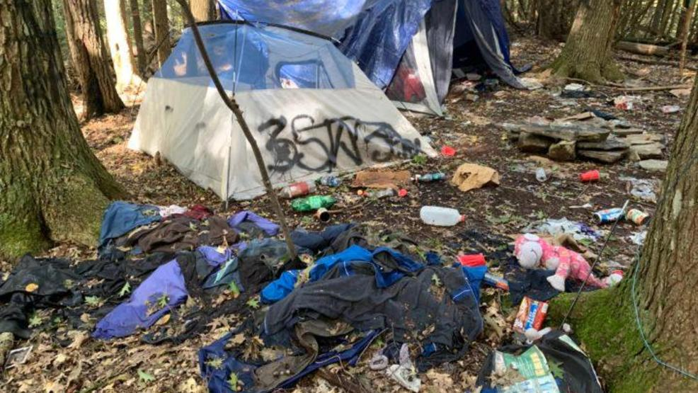Police chief believes foul campsite is connected to group that gave out tents to homeless