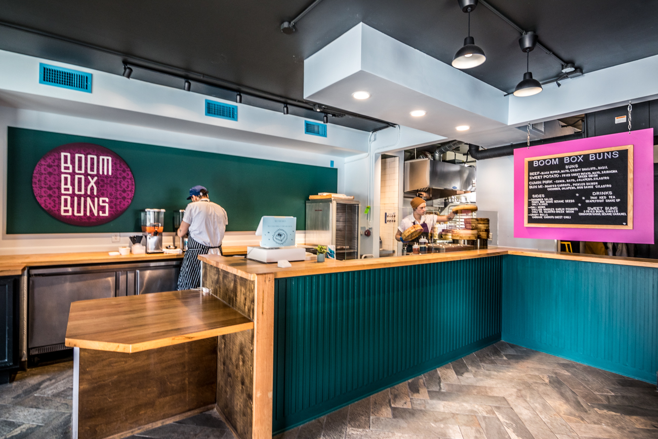 Boom Box Buns opened up shop in their first brick and mortar restaurant in March 2020. Formerly, they operated out of a pop-up food window on Woodward Street in Over-the-Rhine that served their popular handmade steamed bao buns on weekends until they ran out. With more space, some seating, and extended days of operation, customers can come by and enjoy their buns and expanded menu items, such as sides and specialty drinks. ADDRESS: 1400 Republic Street (45202) / Image: Catherine Viox // Published: 6.4.20