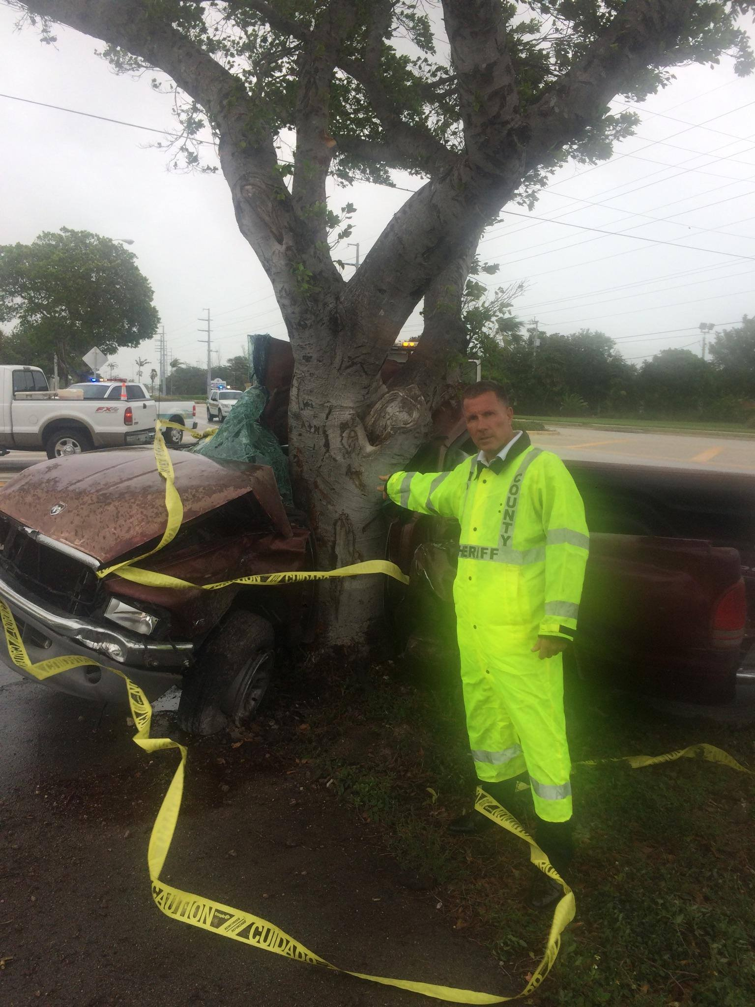 Man dies driving during storm in the Keys. (MCSO)
