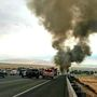 Semitruck fire causes traffic delays on Interstate 5
