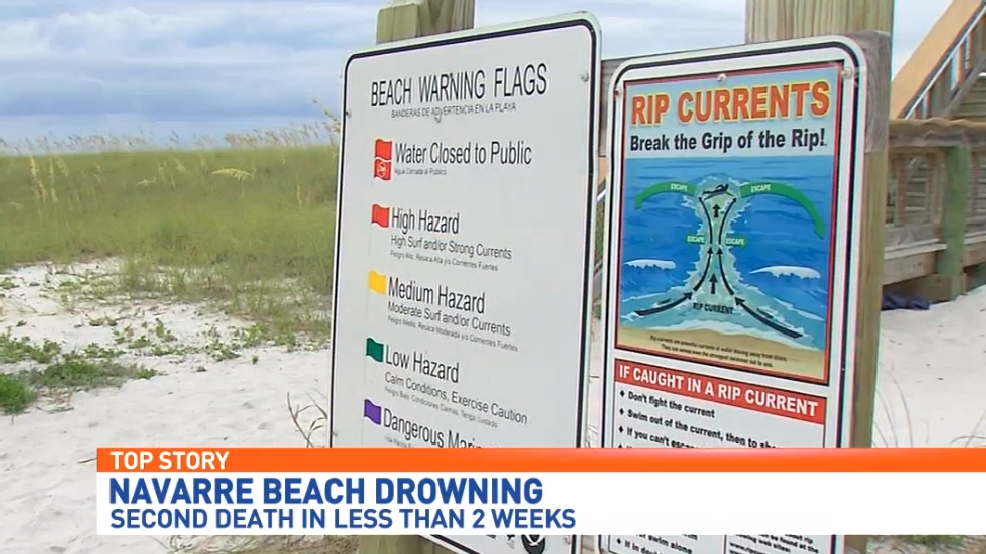 Second drowning on Navarre Beach prompts warnings about water
