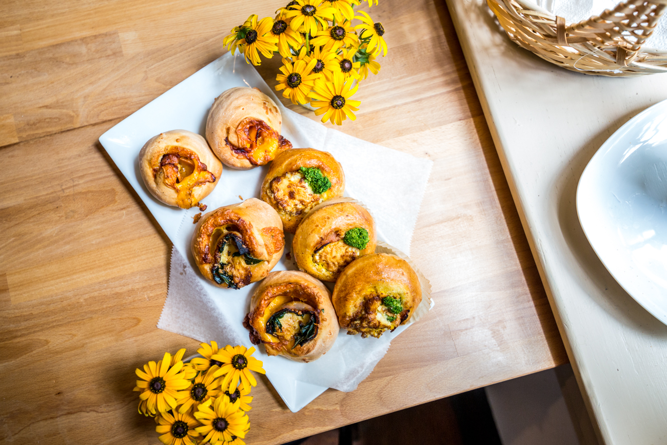 Savory rolls including egg, cheese, and broccoli, ham, spinach, and cheese, and ham, egg , and cheese / Image: Catherine Viox{ }// Published: 8.5.19
