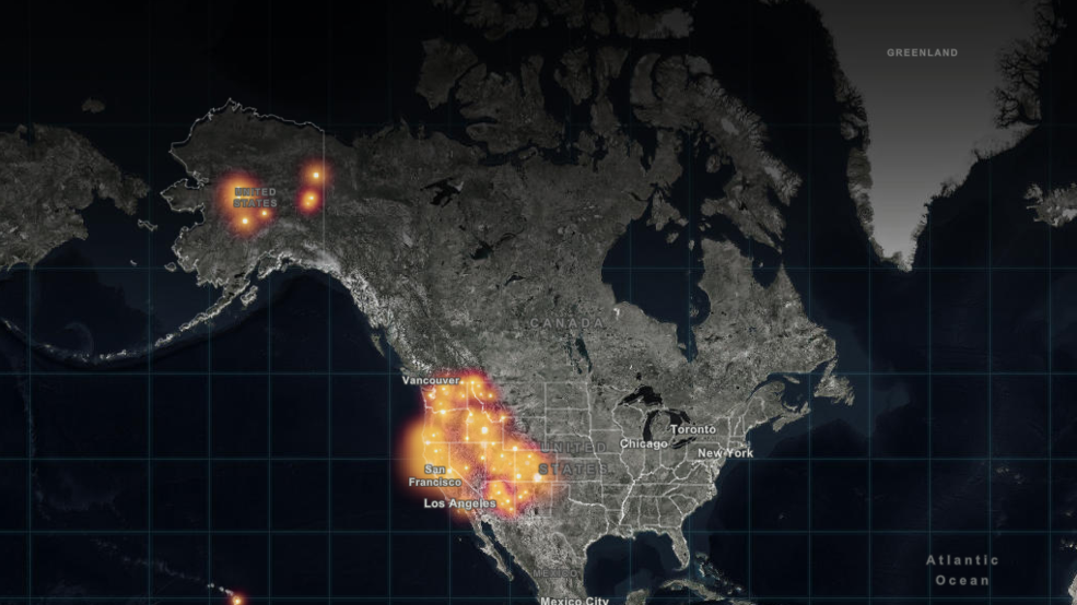 Large Wildfire Map.Real Time Interactive Map Of Every Fire In America Komo