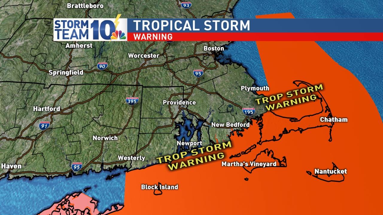 Tropical storm warnings dropped for southern RI & SE Mass.