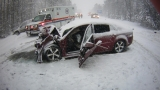 Nearly two dozen crashes in Cheboygan County, one leaves man in serious condition