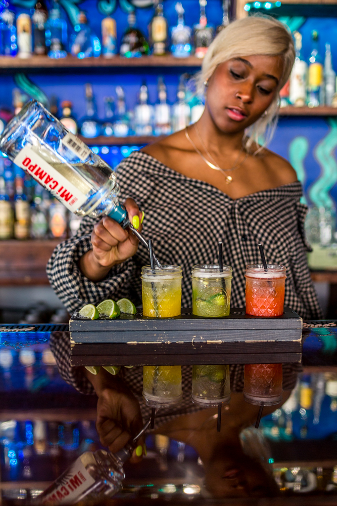 Ryane Johnson making a margarita flight / Image: Catherine Viox{ }// Published: 6.9.19