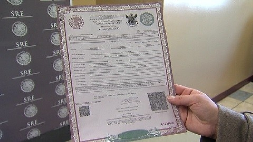 Mexican Immigrants Can Now Get Birth Certificate In Us Katv
