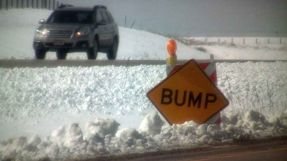 The spring thaw is causing dips in area roadways