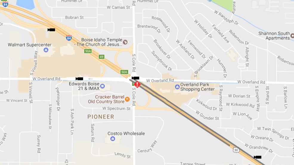 Traffic Alert Semi Truck Crash Reported Along I 84 Near Cole Now