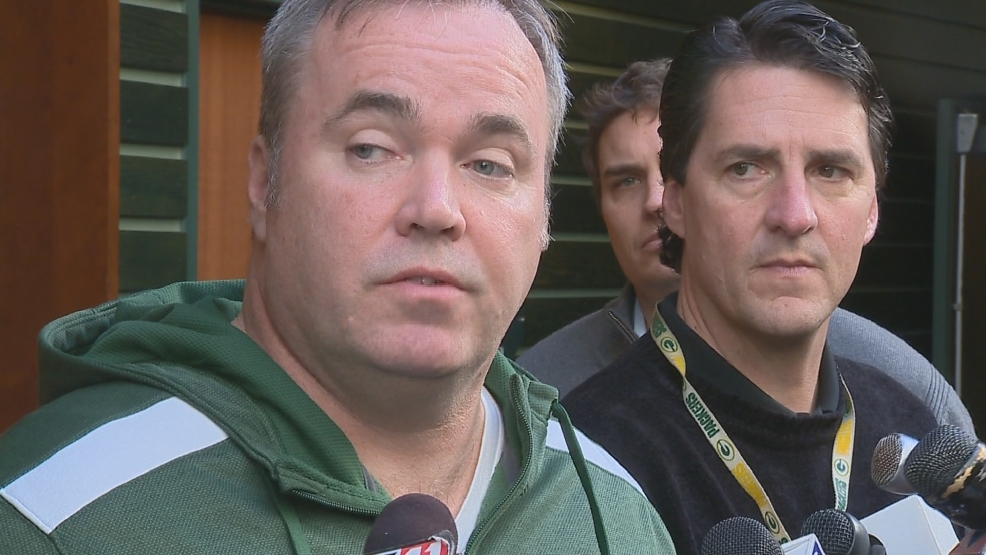 Packers head coach Mike McCarthy speaks to the media on Monday, February 10, 2014. (WLUK)
