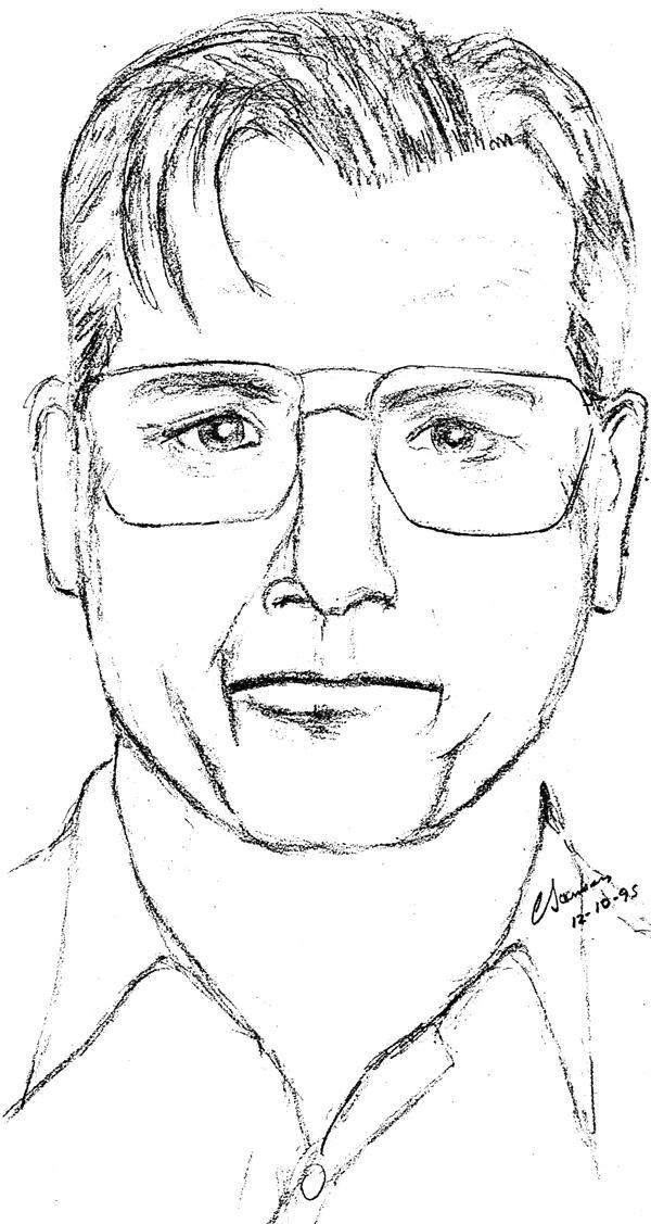 This sketch by Medford police artist Chuck Steinberg helped police nab murderer Robert Acremant. The sketch prompted Acremant's mother to phone police once she saw it printed in newspapers and broadcast on television. Sketch and photo courtesy of Chuck Steinberg