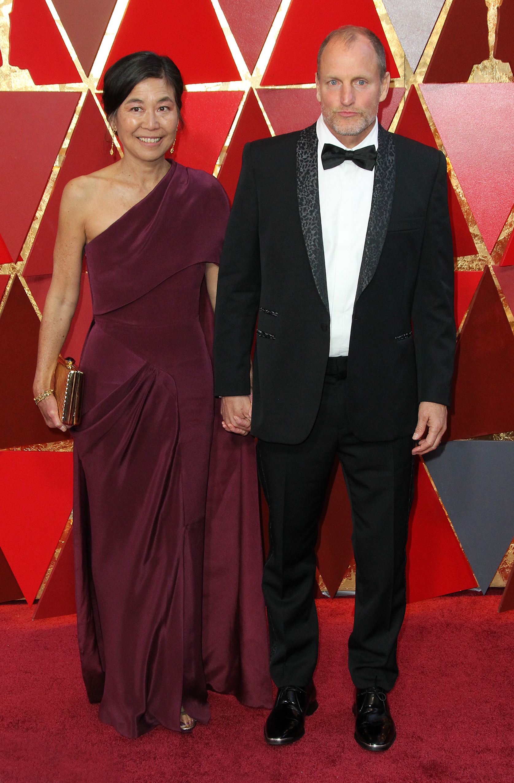 Laura Louie and Woody Harrelson{&amp;nbsp;}arrive at the 90th Annual Academy Awards (Oscars) held at the Dolby Theater in Hollywood, California. (Image: Adriana M. Barraza/WENN.com)<p></p>