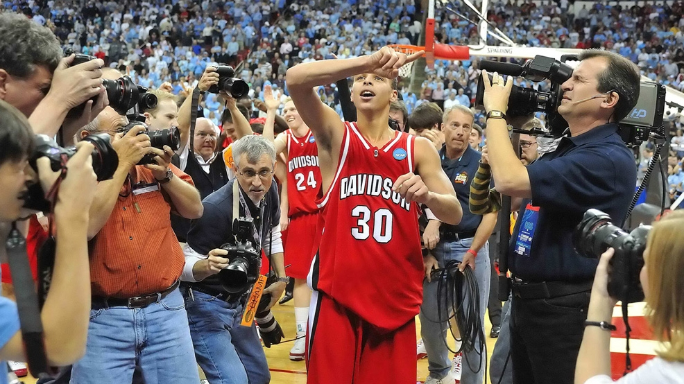 Stephen Curry led Davidson one one of the best Cinderella runs with one of the greatest individual performances in NCAA Tournament history. (Courtesy Davidson Athletics)