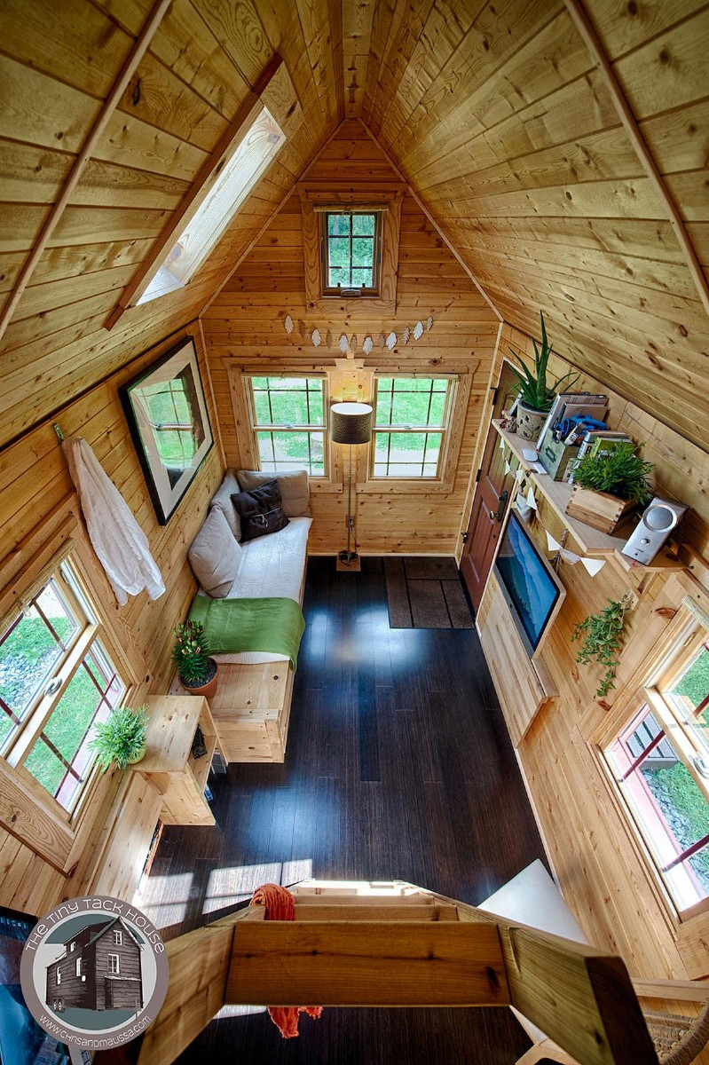 The Tiny Tack House was designed and built by Malissa and Christopher Tack. (Photo by Christopher Tack).