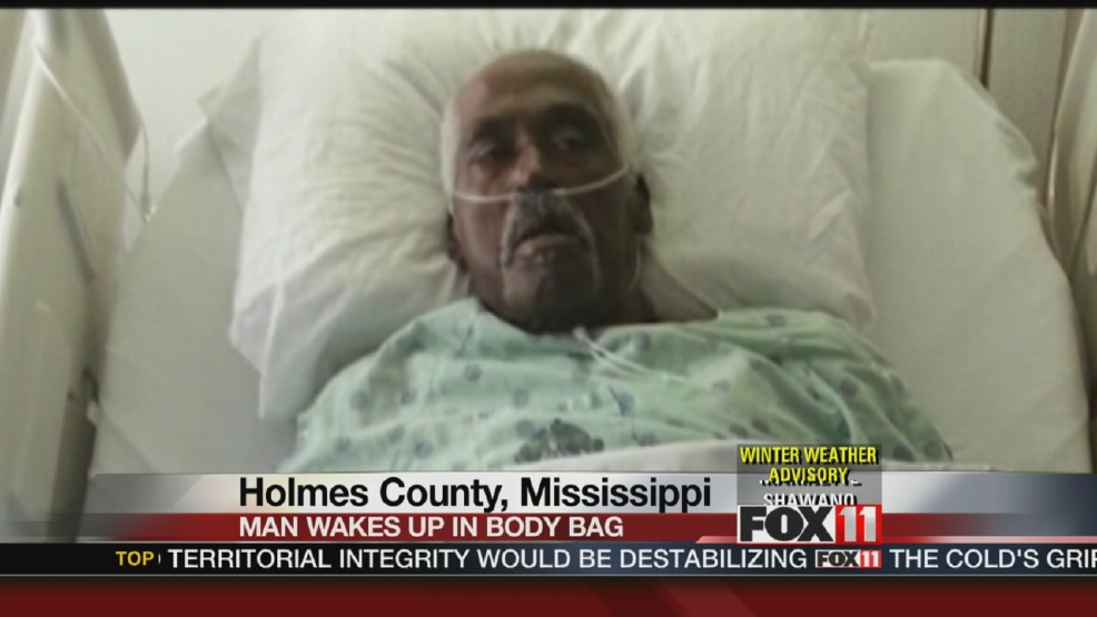 Man wakes up in body bag at funeral home