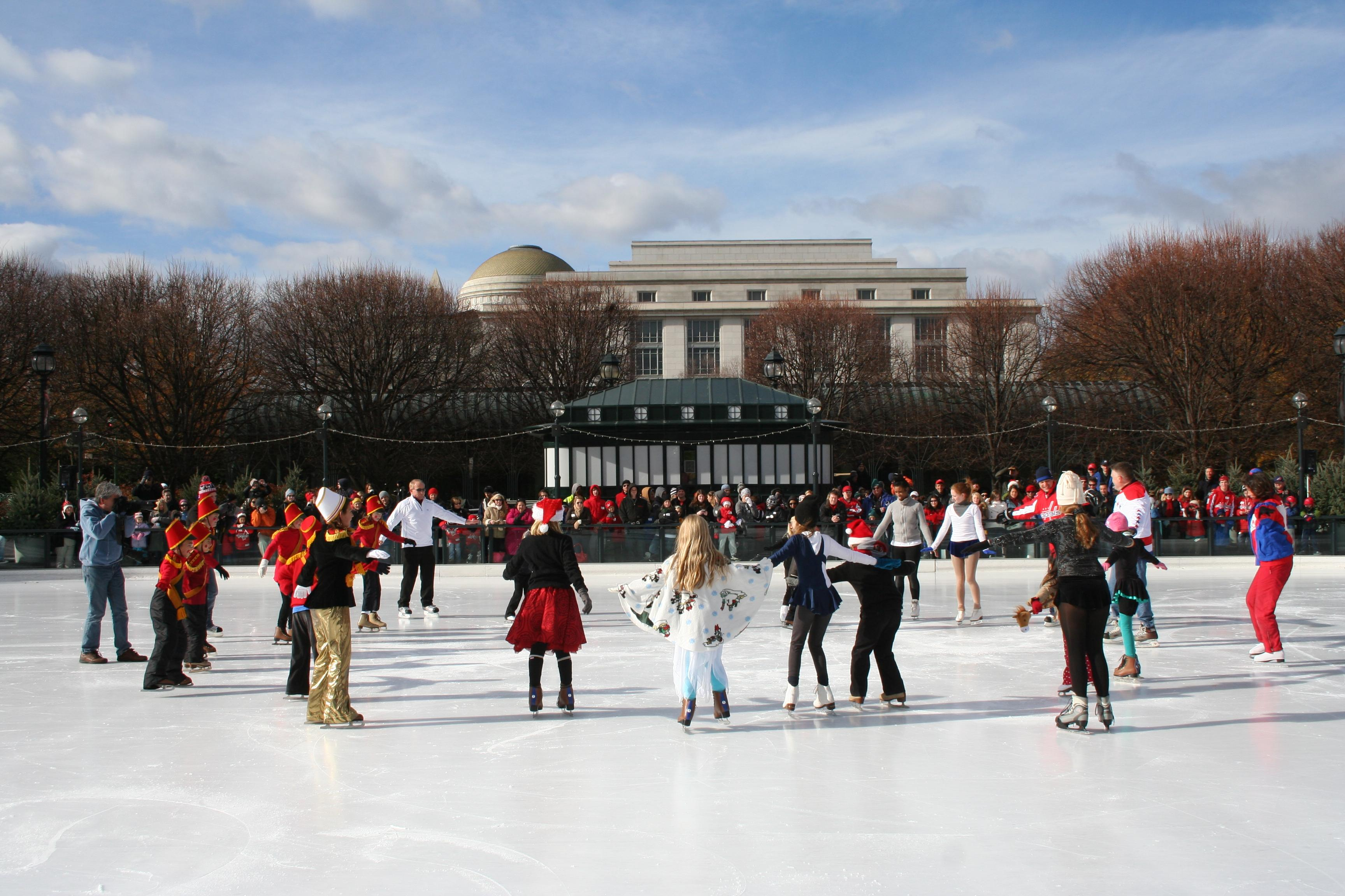 Where else in Washington can you skate by spectacular sculptures from artists like Alexander Calder, Roxy Paine and Louise Bourgeois? (Image: Courtesy NGA)