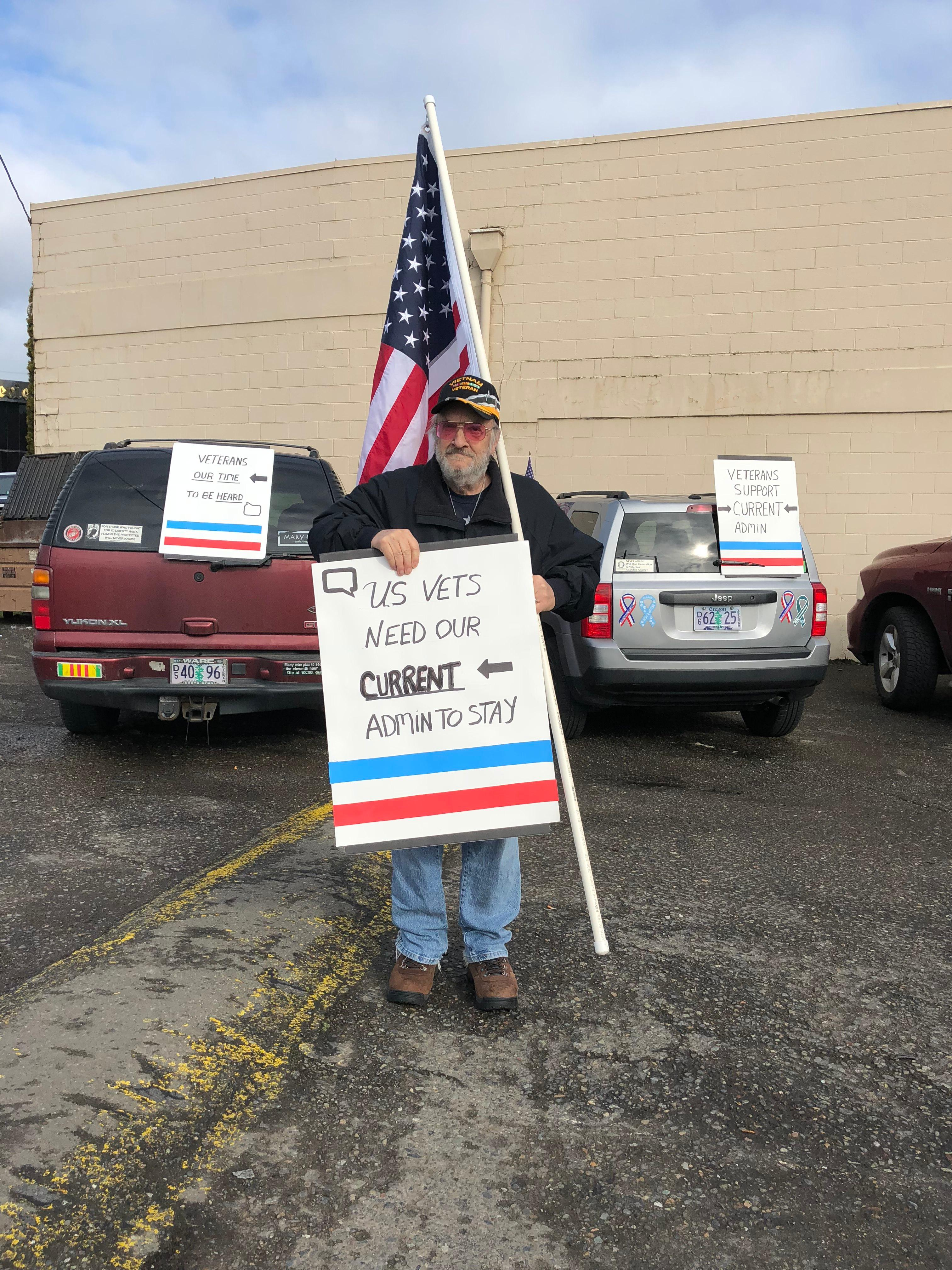 The Vietnam Veterans of America, Umpqua Valley Chapter 805 wants to make their voices heard, and with signs in hand, they're showing their support for the Roseburg VA Hospital.