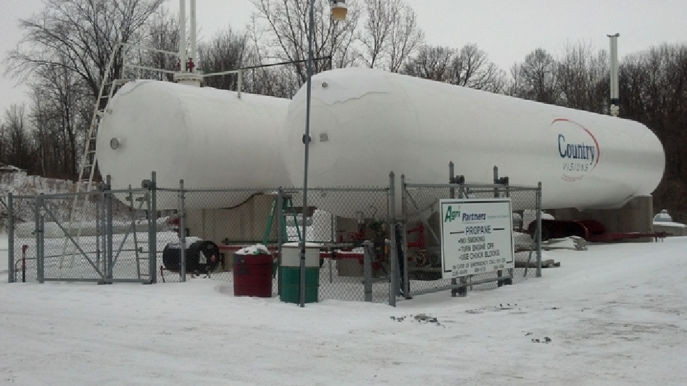 Country Visions Cooperative propane tanks, Friday, Jan. 24, 2014. (WLUK/Eric Peterson)