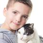 Bullied boy adopts cat with same rare eye condition and cleft lip
