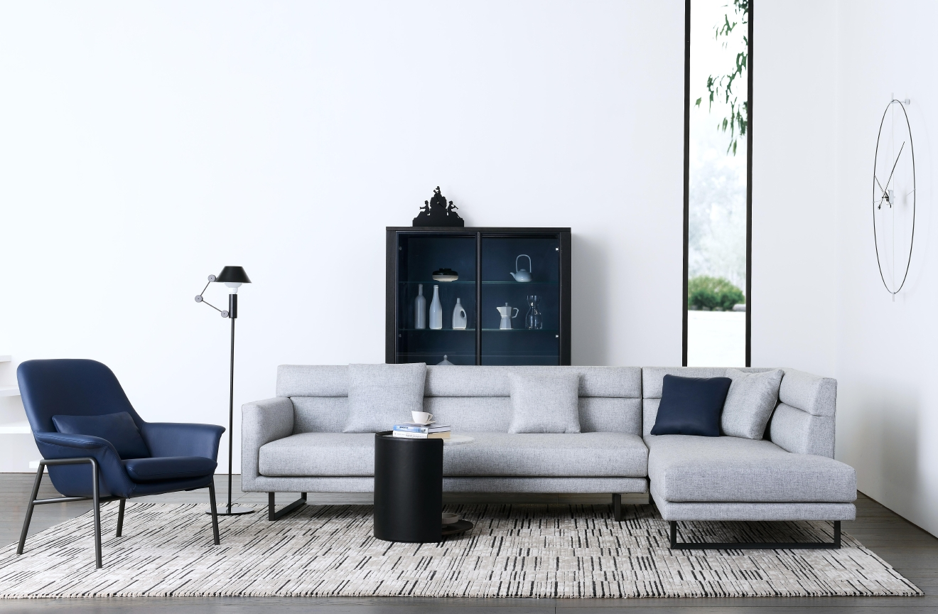 A sectional offers lots of seating but doesn't require the same amount of space as a sofa, loveseat and armchair.