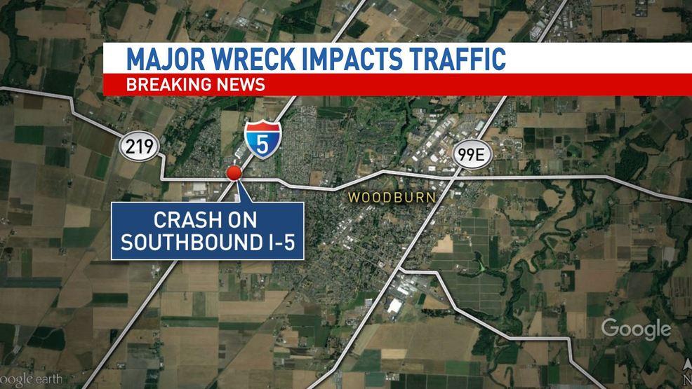 9 car wreck on southbound I 5 causes backup in Woodburn | KATU