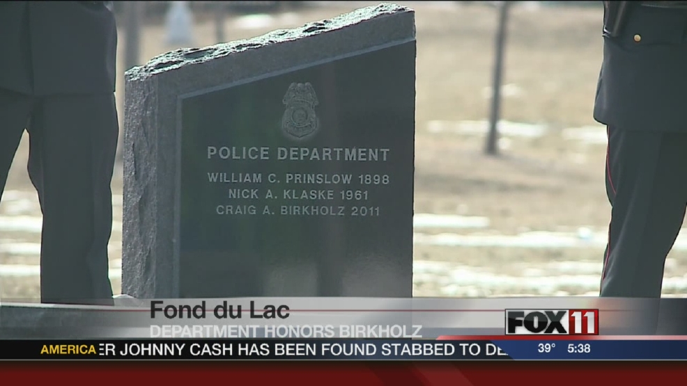 Fond du Lac remembers Officer Craig Birkholz