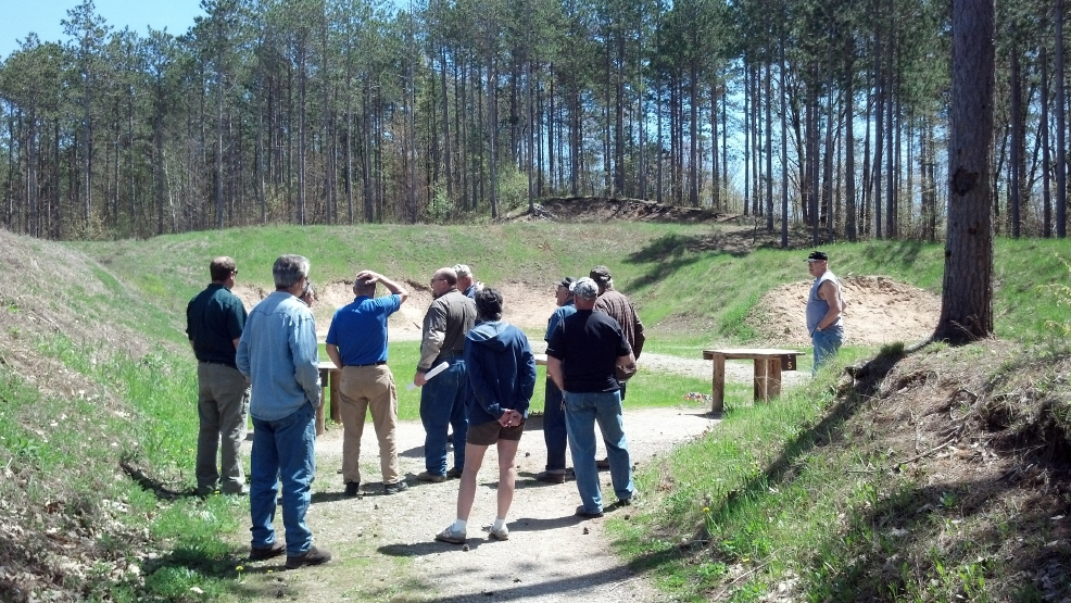 A meeting was held at the Machickanee Forest Shooting Range on Fri, May 23, 2014. (WLUK/Andrew LaCombe)