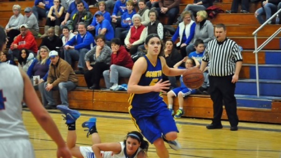 Oconto senior guard Laken James was named the Packerland Conference co-player of the year. (Doug Ritchay/WLUK)