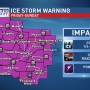 Weekend ice storm warning information