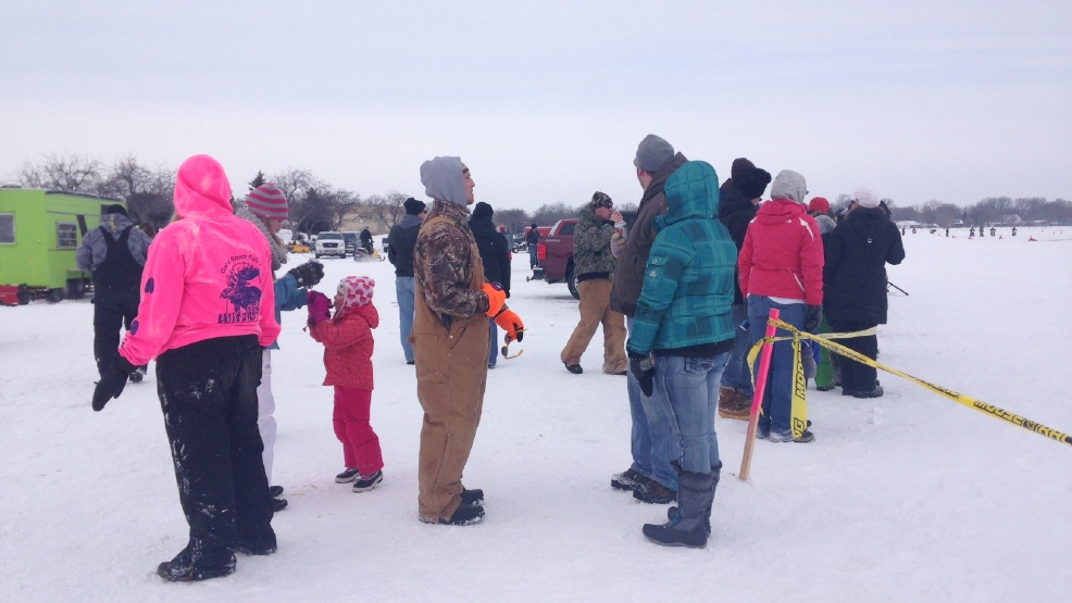 The annual Otter Street Winter Fisheree on Lake Winnebago