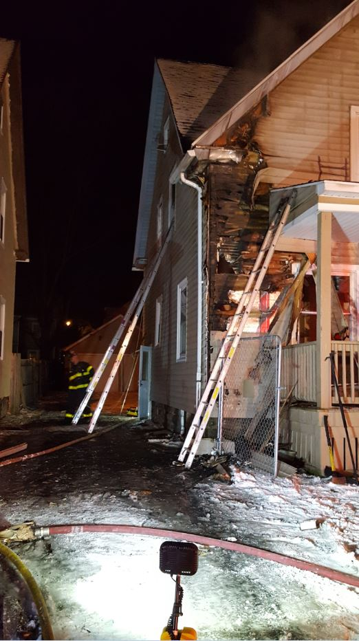 Firefighters were able to get to the fire as it spread to the first floor and bring it under control in about 30 minutes. There were no working smoke detectors in the home. (Photo: Rochester Fire Department)
