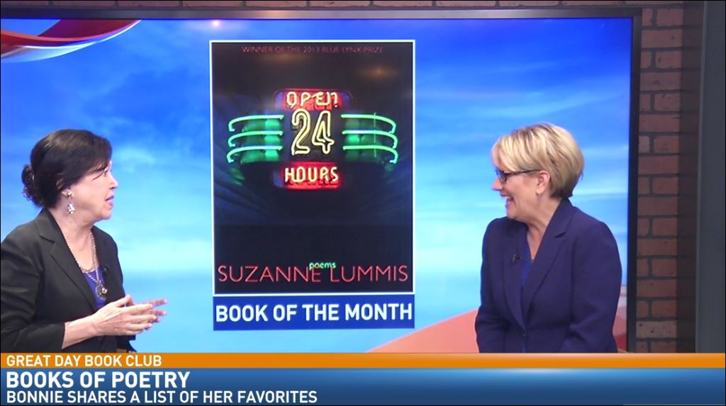 Bonnie's Book of the Month is Open 24 Hours: Poems by Suzanne Lummis